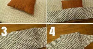 Check out the tutorial: #DIY No-Sew Pillow Cover #crafts #decor #handmadehomedec...