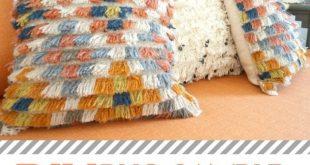 DIY Bohemian Rug Sample Pillow