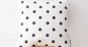 "Decorative Pillows, Throw Pillow, Cushion, Kids Pillow Cover, Nursery Decor, Geometric Pillow, Teen Pillow, Polka Dots 16"" x 16"""