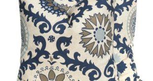 NAVY BLUE PILLOW,Decorative Pillow, Euro pillow cover, Throw Pillows - Accent Pillow - Navy Pillow - Suzani Pillow - Toss Pillo
