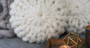 This Giant Yarn Throw Pillow Takes Cozy To A Whole New Dimension