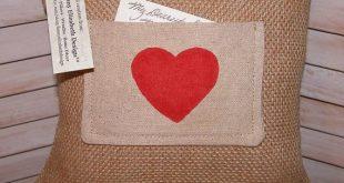 Custom Love Note Pocket Pillow FREE SHIPPING-Custom Pillow-Valentine's Day-Valentine Gift- Burlap Pillow- Pocket Pillow-Valentine's Day Gift