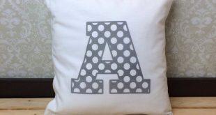 Monogram Pillow for Nursery, Kids Playroom Decor, Personalized Pillow for Kids Bedroom Decor, Alphabet Pillow Cover for Teen