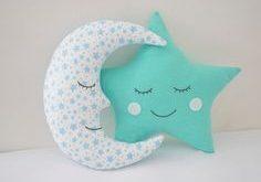 Moon Pillow Moon Cushion Crescent Moon Pillow Nursery от Jobuko