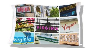 Personalized Pillow Case featuring VIRGINIA in sign photos; Custom pillow cases; Teen bedroom decor;
