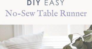 DIY Easy No Sew Table Runner