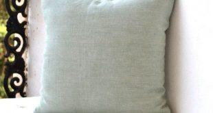 Seafoam Green Linen Pillow, Decorative pillow, Linen Cushion with zipper, All Sizes Throw pillow, Cushion cover, Housewarming Gift for Her