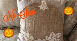 Fall No Sew Pumpkin Pillow Diy 2019 - YouTube
