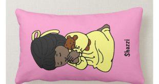 Little Girl Custom Prayer Pillow: African-American Lumbar Pillow   Zazzle.com