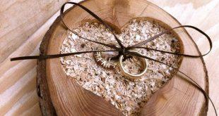 Wedding Ring Bearer Pillow - Rustic Ring Bearer - Wedding Ring Holder - Fall Ring Bearer