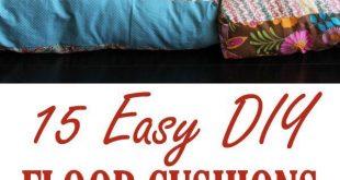 15 Easy DIY Floor Cushions