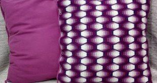 Decorative pillow,hand embroidery, sofa cushions, original pillow, gift ideas, pillow for rest, lilac-pink pillow, cross stitch, handmade