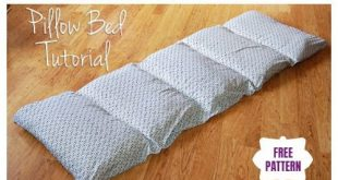 DIY Simple Roll Up Pillow Bed Floor Cushion