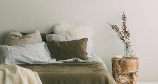 A&C Flax Linen Duvet Cover - Olive Green
