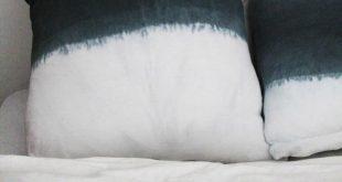 DIY: Dip Dye-Polster und Bettüberwurf. Mit grausam schlechten Fotos vom Herstel...