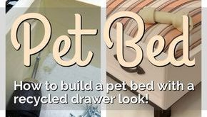 DIY Dog Bed with an Upcycled Drawer Look
