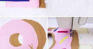 DIY Donut Kissen selber machen: Variante mit und ohne Nähen!
