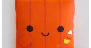 Decorative Pillow, Pumpkin, Halloween Decor, Orange Pillow, Pumpkin Pillow, Kawaii Pillow, Stuffed T