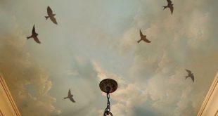 Fliegende Vögel 3 pc Set - Vogel wiederverwendbare Schablonen für Wände - DIY Dekor Schablonen