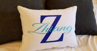 Girls Pillow with Name Personalized Gift for Teens Tweens Room Decor Monogrammed pillow cover dorm room name letter custom case bedroom
