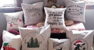 Making Christmas Throw Pillows