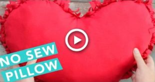 No-Sew Heart Pillow | No Sew Projects | Craft Factory