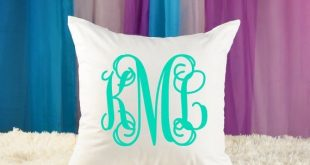 Personalized Girls Monogrammed Pillow - Monogrammed Initials - Teen Room - Nursery Pillow - Baby Gif