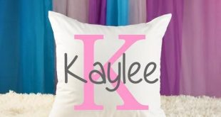Personalized Name Pillow - Girls Monogram - Teen Room -  Nursery Pillow - Baby Gift - Teen Bedding -
