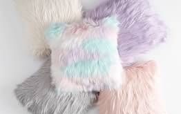 "Pom Pom Organic Pillow Cover, 12""x24"", Vintage Ebony - Girls Bedding - Decorative Pillows"