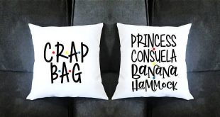 Princess Consuela Banana Hammock and Crap Bag Pillow Set- Housewarming gift Ann