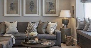 Warum sollten Sie nicht ins Wohnzimmer gehen Ideen graue Couch - Shelley Dubblestein