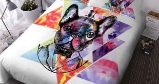 Watercolor Pug Bedding Set